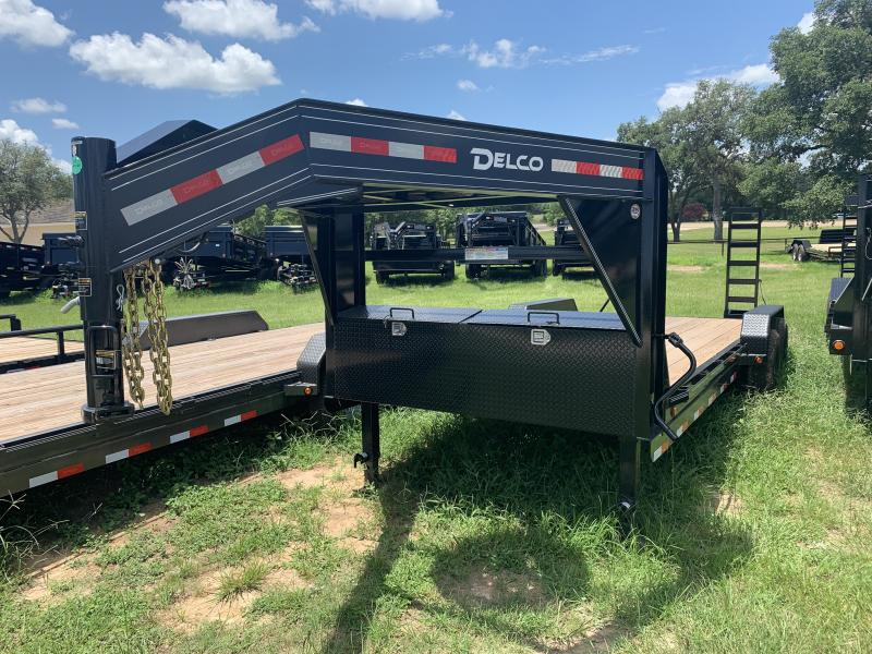2019 Delco Trailers 20' GOOSENECK STAND UP RAMPS