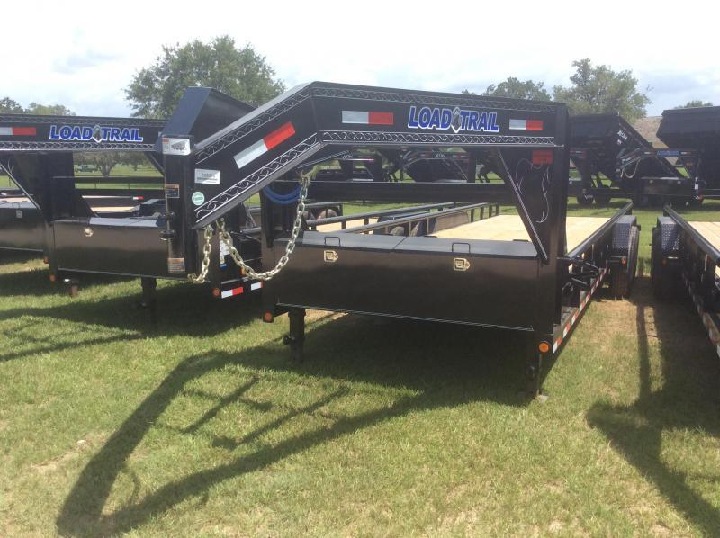 2018 Load Trail 83 x 24 Tandem Gooseneck w/Side Rail Utility Trailer