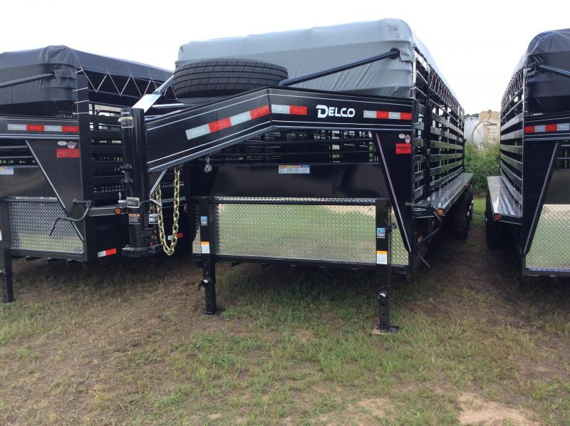 2018 Delco Trailers 6 8 X 28 Gooseneck Bar Top 3-7K Axles Livestock Trailer