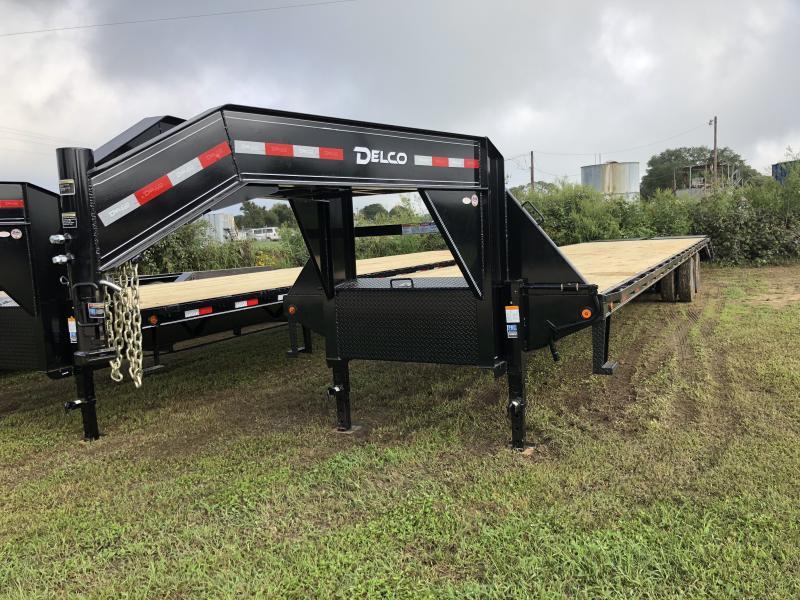 2019 Delco 40 Heavy Duty Gooseneck Flatbed Max Ramps
