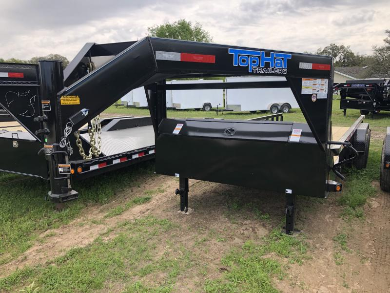 2019 Top Hat Trailers 83X20 SQUARE TOP GOOSENECK