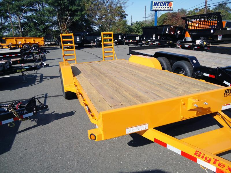 2019 Big Tex Trailers EH 7X18 10ET 18YE 5SUKR KNEE YELLOW Car / Racing Trailer