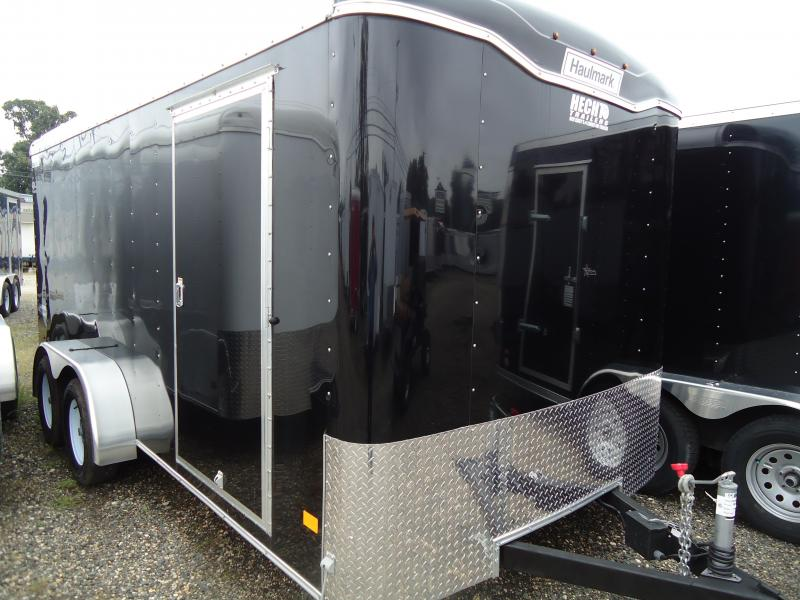 2017 Haulmark 7X16 TST WT2 RAMP BLACK Enclosed Cargo Trailer