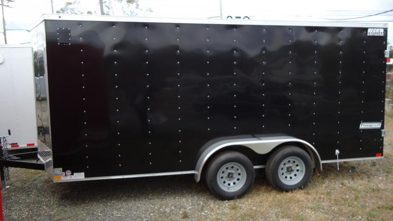 2019 Haulmark 7X16 PP T2 D BLACK Enclosed Cargo Trailer