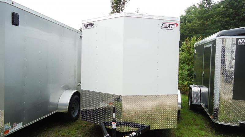 2020 Bravo Trailers 6X10 SC SA V RAMP APP WHITE Enclosed Cargo Trailer
