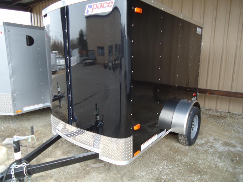 2020 Pace American 5X8 OB RAMP SD BLACK Enclosed Cargo Trailer