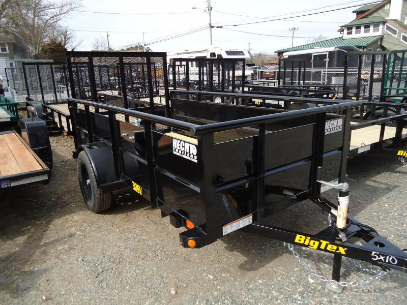 2019 Big Tex Trailers UT 5X10 30SV 10BK 4RG BLACK Utility Trailer