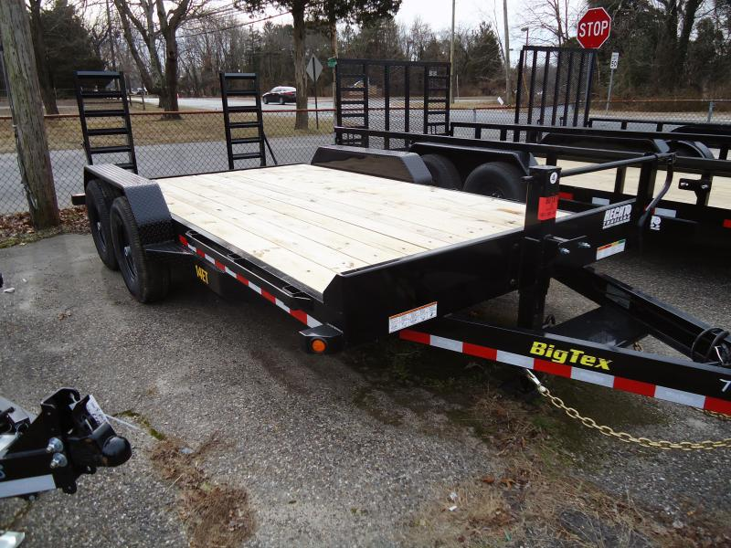 2019 Big Tex Trailers EH 7X16 14ET 16BK KR KNEE BLACK Equipment Trailer