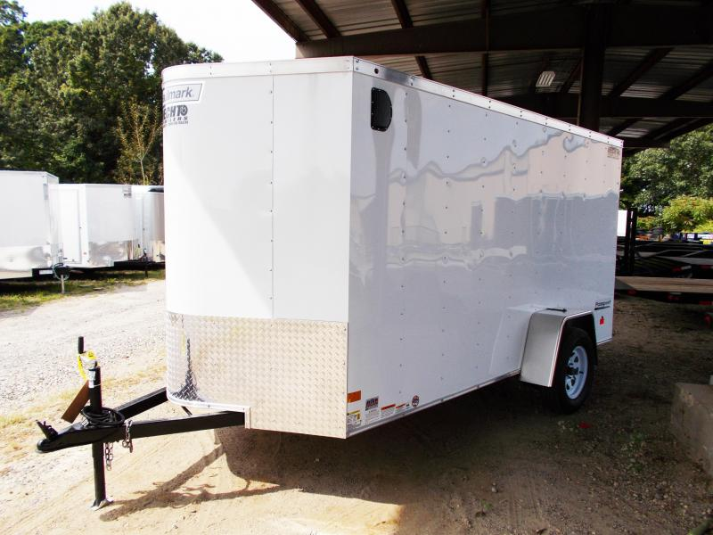2018 Haulmark 6X12 PPT DS2 STAB JCKS SPARE SVNTS WHITE Enclosed Cargo Trailer