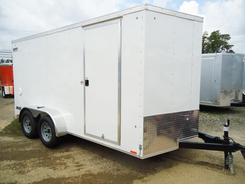 2018 Pace American 7X14 JV TE2 6X RAMP WHITE Enclosed Cargo Trailer