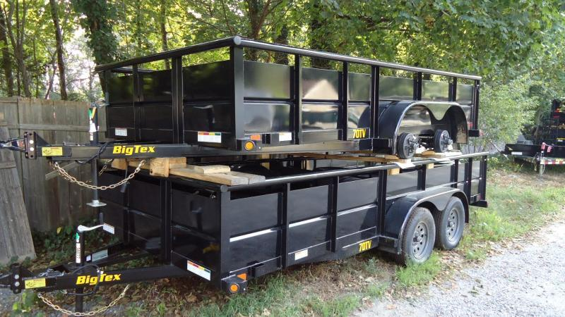 2020 Big Tex Trailers UT 7X16 70TV 16BK4RG BLACK Utility Trailer