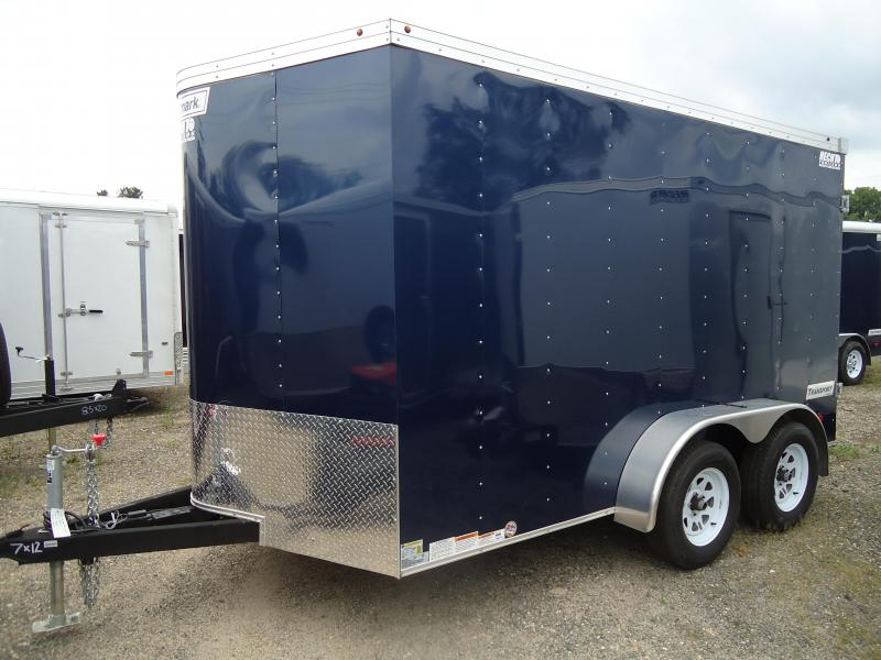 2017 Haulmark 7X12 TSTV WT2 12TUNG BLUE Enclosed Cargo Trailer