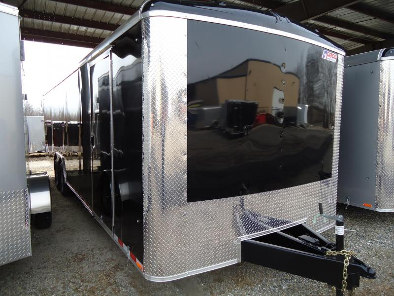 2019 Pace American 8.5X28 JTSE TE4 RAMP ESCAPE DOOR SVNTS BLACK Car / Racing Trailer