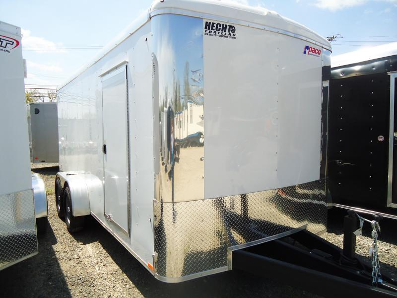 "2019 Pace American 7X16 CLS TE2 6""X SVNTS WHITE Enclosed Cargo Trailer"
