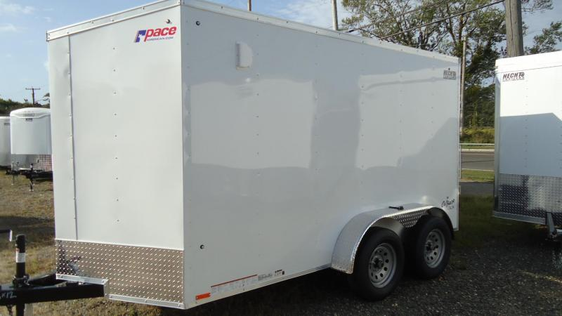 "2020 Pace American 6X12 OBDLX TE2 24VS 6""X RAMP SVNT WHITE Enclosed Cargo Trailer"