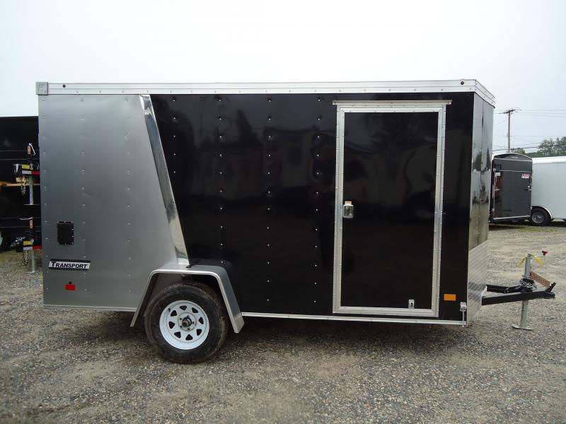 2017 Haulmark 6X12 TSTV DS2 RAMP DRNG SVNTS SILVER BLACK Enclosed Cargo Trailer