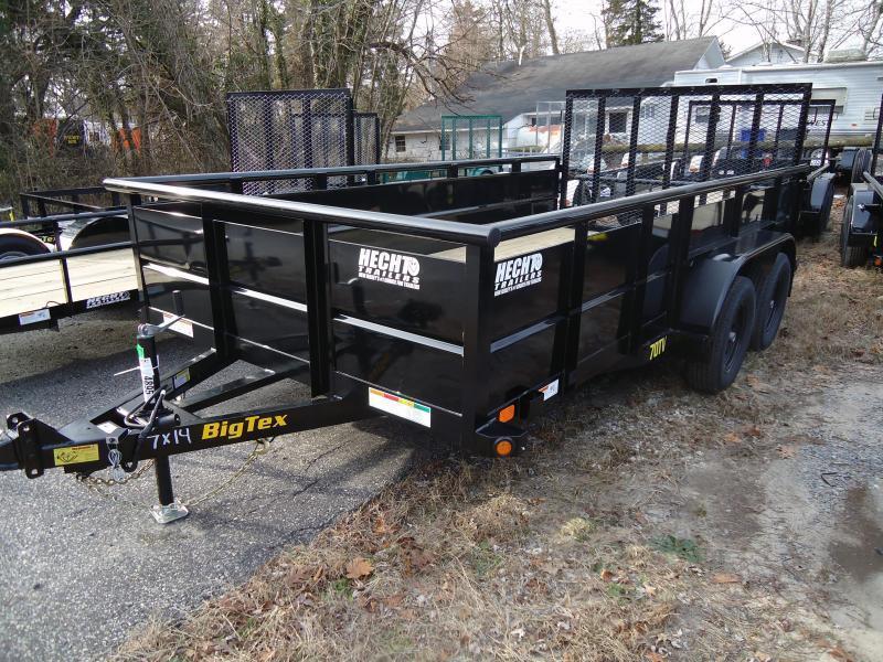 2019 Big Tex Trailers UT 7X14 70TV 14BK BLACK Utility Trailer