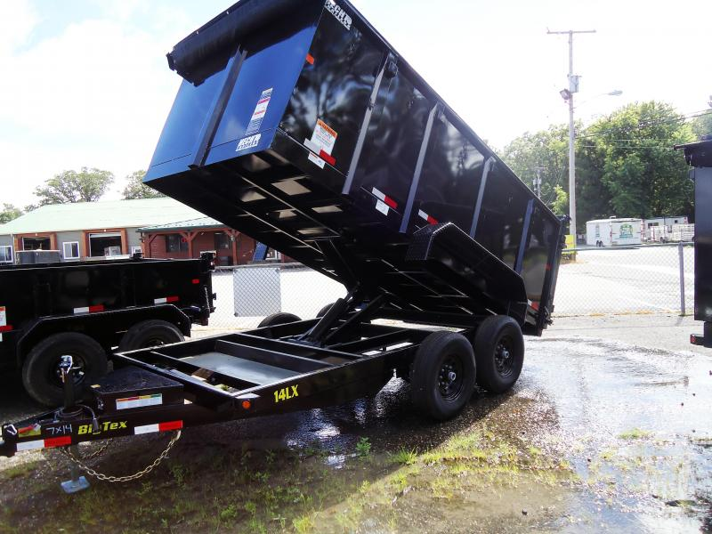 2018 Big Tex Trailers DT 7X14 14LX 14BK P4 7SIR TARP BLACK Dump Trailer