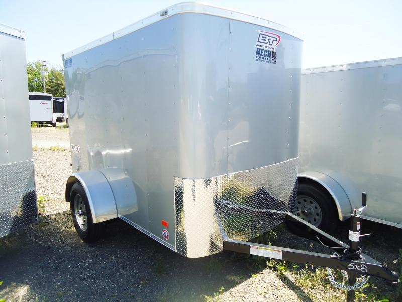 "2019 Bravo Trailers 5X8 SC SA 6""X RAMP APP SILVER Enclosed Cargo Trailer"