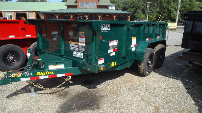 2020 Big Tex Trailers DT 7X12 14LX 12GR7SIR GREEN Dump Trailer