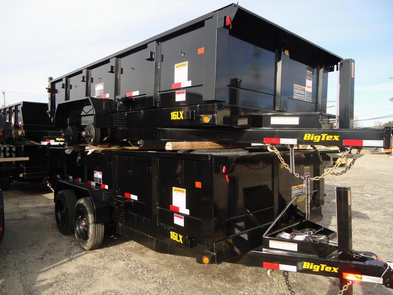 2019 Big Tex Trailers DT 7X16 16LX 16BK SIR HY JCK TARP BLACK Dump Trailer