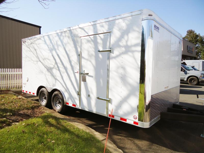 2019 Bravo Trailers 8.5X18 ST TA3 LND SCP HD RAMP TOR AX WHITE Car / Racing Trailer