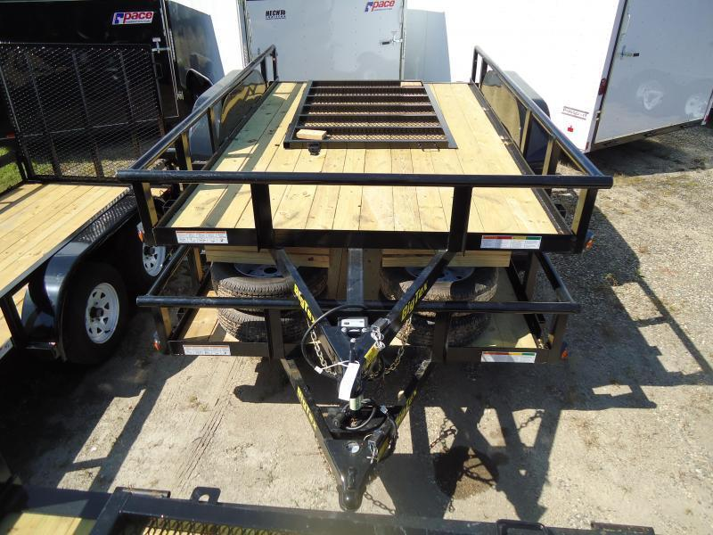 2017 Big Tex Trailers UT 7X12 70PI 12XBK4RG BLACK Utility Trailer