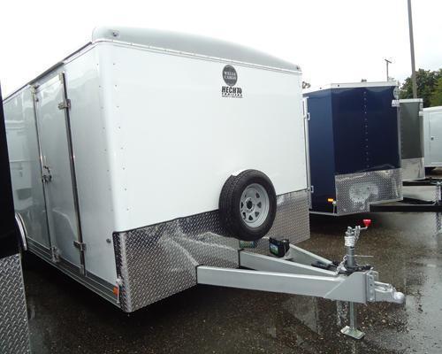WELLS CARGO 7X20 RF4 CONT PKG LAD RCK WHITE Enclosed Cargo Trailer