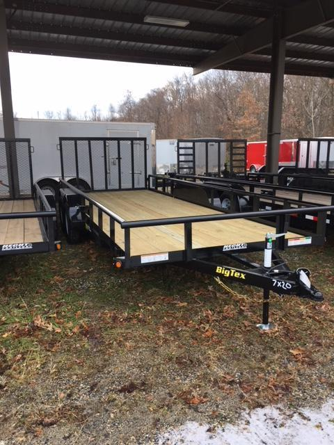 2019 Big Tex Trailers UT 7X18 70PI 18XBK 4RG ADJ COUP BLACK Utility Trailer