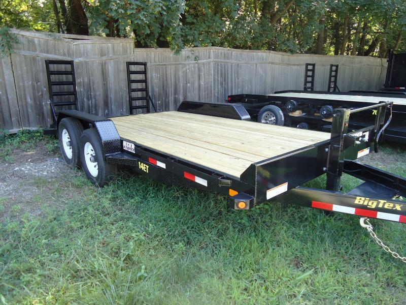 2017 Big Tex Trailers EH 7X18 14ET-18BK-KR KNEE RAMPS BLACK Car / Racing Trailer