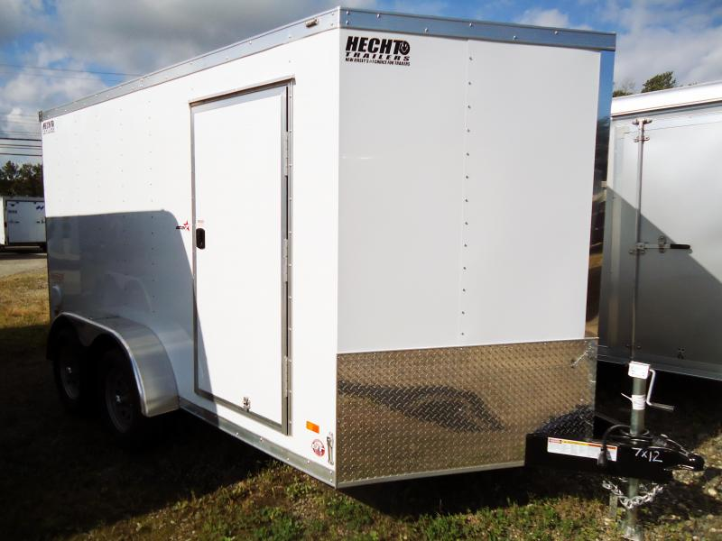 "2019 Bravo Trailers 7X12 ST TA2 30""V RAMP APP WHITE Enclosed Cargo Trailer"