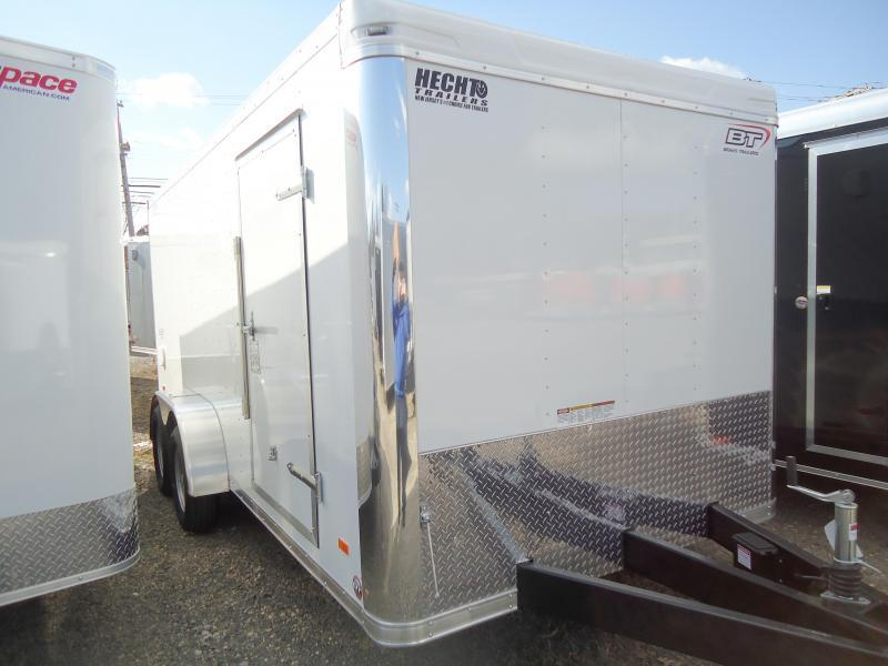 2020 Bravo Trailers 7X16 ST TA2 RAMP LANDSCAPE PKG WHITE Enclosed Cargo Trailer