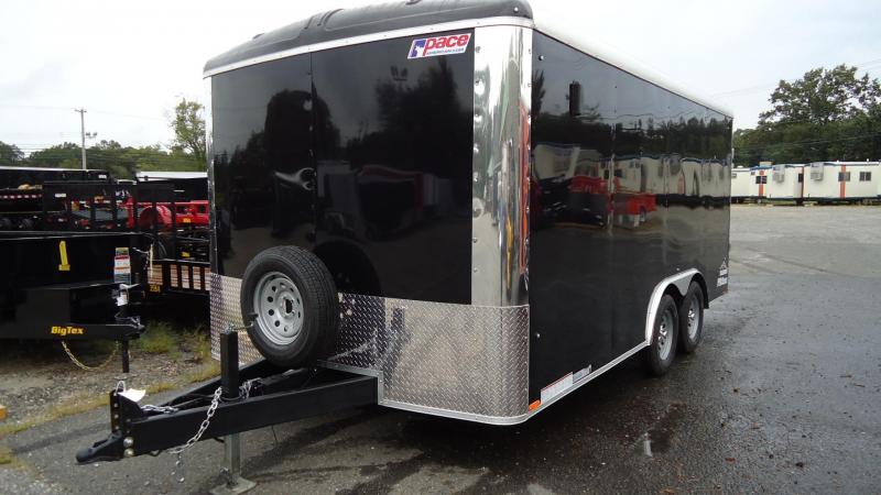 "2020 Pace American 8.5X16 CLS TE2 18""EXT RAMP BLACK Enclosed Cargo Trailer"