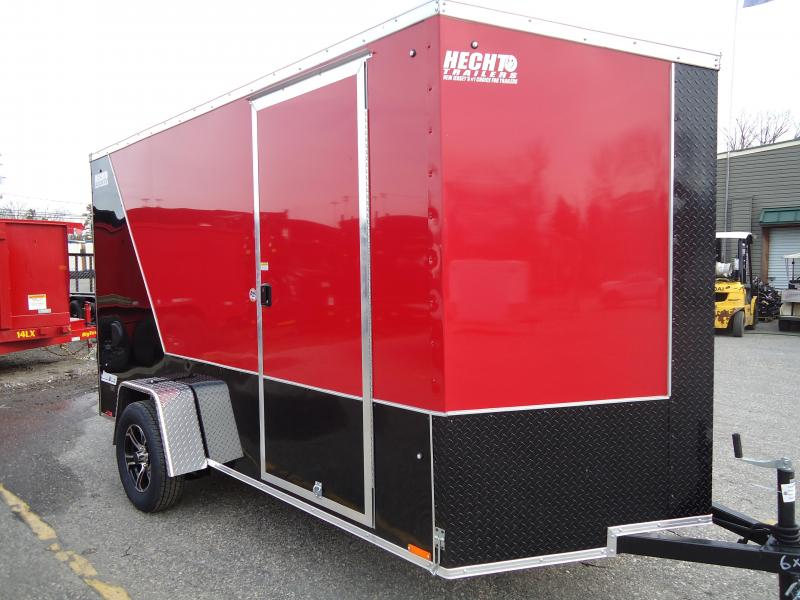 "2019 Pace American 6X12 JVSE SI2 24""VS 6""X RAMP SVNTS DRNG RED&BLACK Enclosed Cargo Trailer"