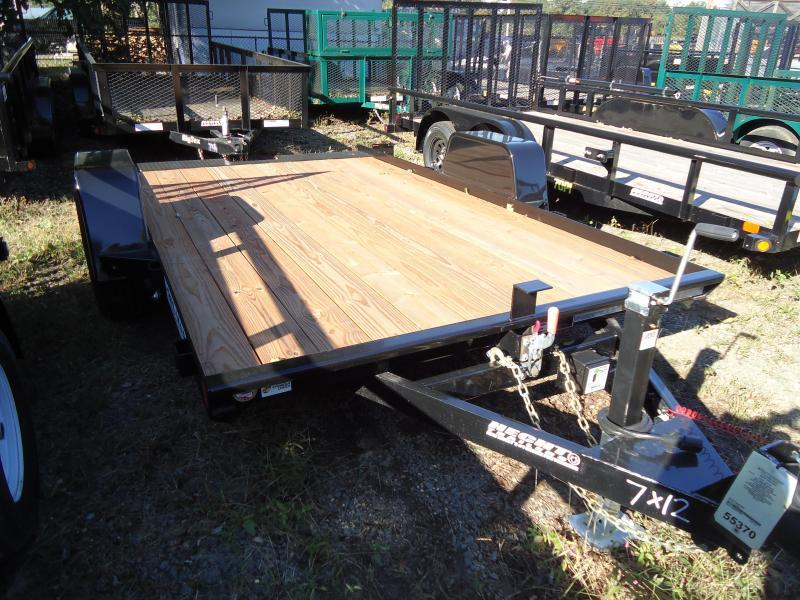 2018 Bri-Mar 7X12 BTG SA TILT BLACK Equipment Trailer