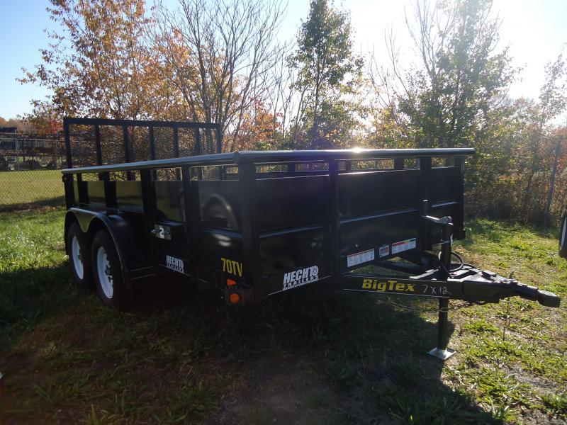 2018 Big Tex Trailers EH 7X20 10ET 20BK-KR KNEE BLACK Car / Racing Trailer