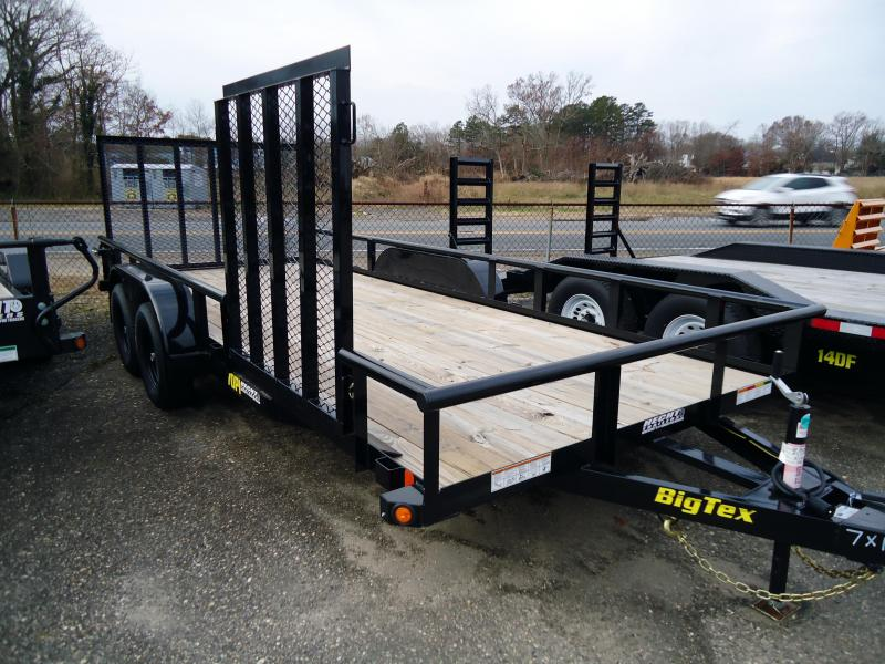 2019 Big Tex Trailers UT 7X16 70PI 16XBK 4RG 4 SIDE GATE BLACK Utility Trailer