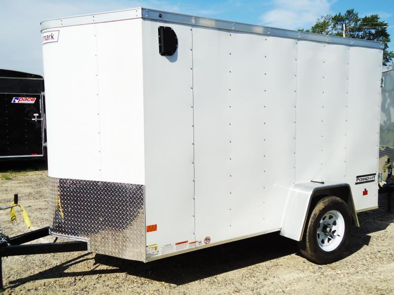 2017 Haulmark 6X10 PPT DS2 SVNTS WHITE Enclosed Cargo Trailer