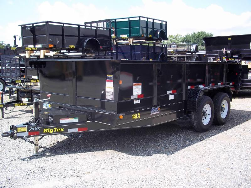 2017 Big Tex Trailers DT-7X16 14LX-16BK7SIRPD TARP BLACK