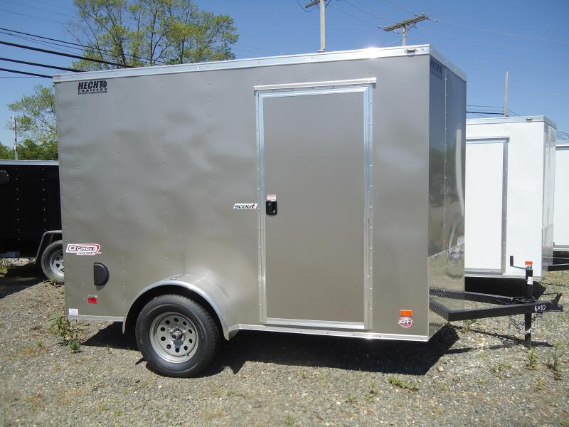 "2019 Bravo Trailers 6X10 SC SA V 6""X MC PKG PEWTER Enclosed Cargo Trailer"