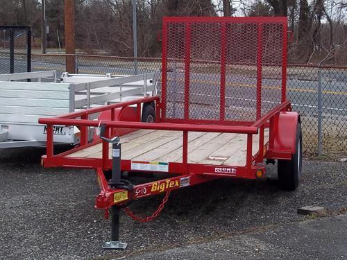 BIG TEX UT 5X8 30SA-08RD4RG RED UTILITY TRAILER