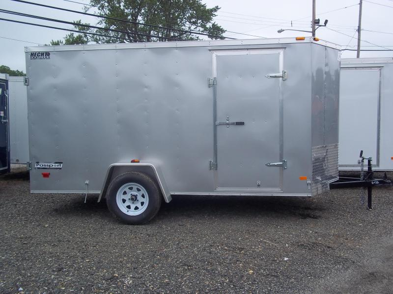 2017 Haulmark 6X12 PPT DS2 DBLDRS SILVERFROST Enclosed Cargo Trailer