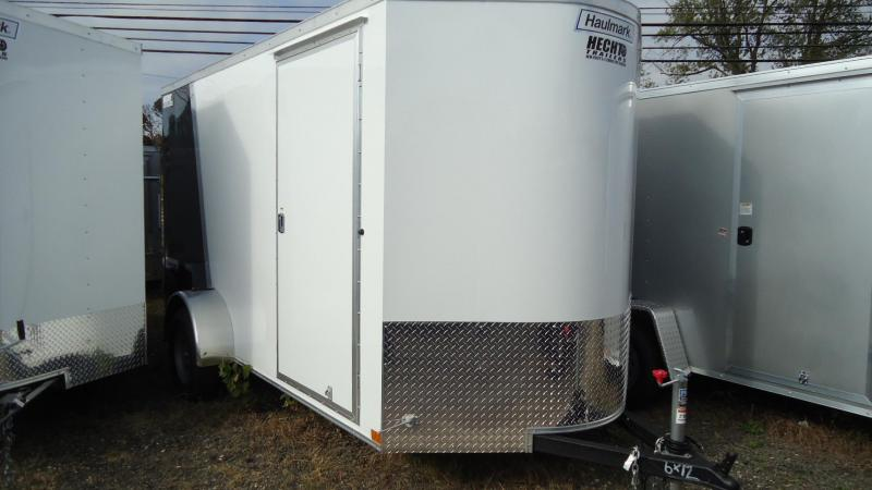 2020 Haulmark 6X12 TSV S2 RAMP WHITE BLACK Enclosed Cargo Trailer