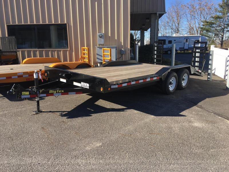 2016 Big Tex Trailers EH-7X18 14DF-18BK DECKOFEND DT Equipment Trailer