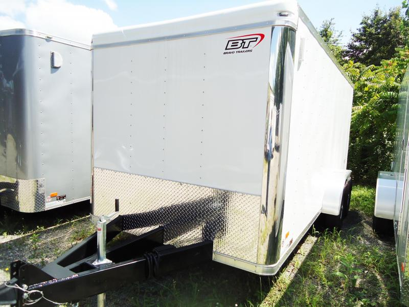 2017 Bravo Trailers 7X16 ST TA2 LNDSCP APP RVNT WHITE Enclosed Cargo Trailer
