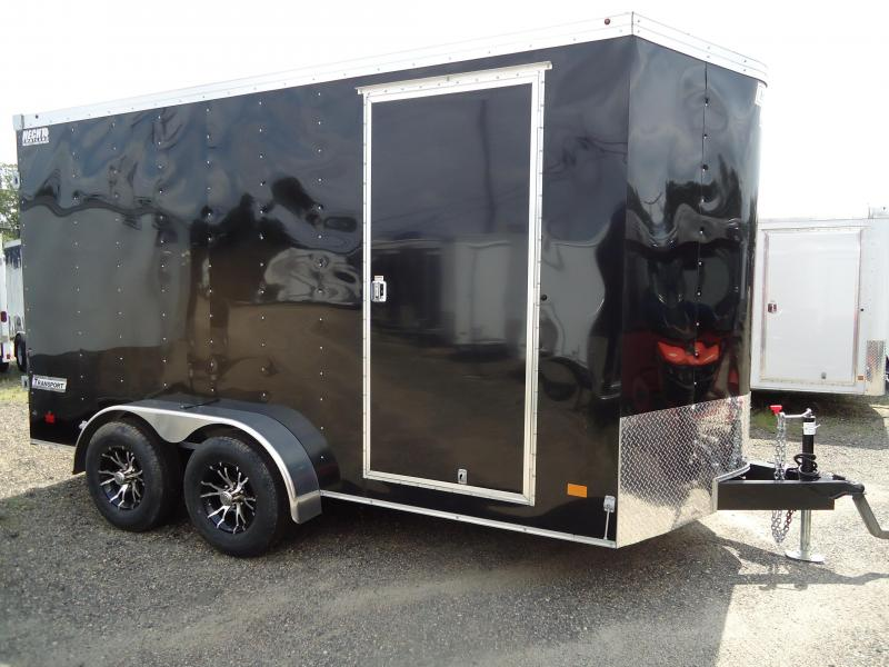 2017 Haulmark 7X14 TSTV WT3 6X VIPER ALUM WHEEL BLACK Enclosed Cargo Trailer