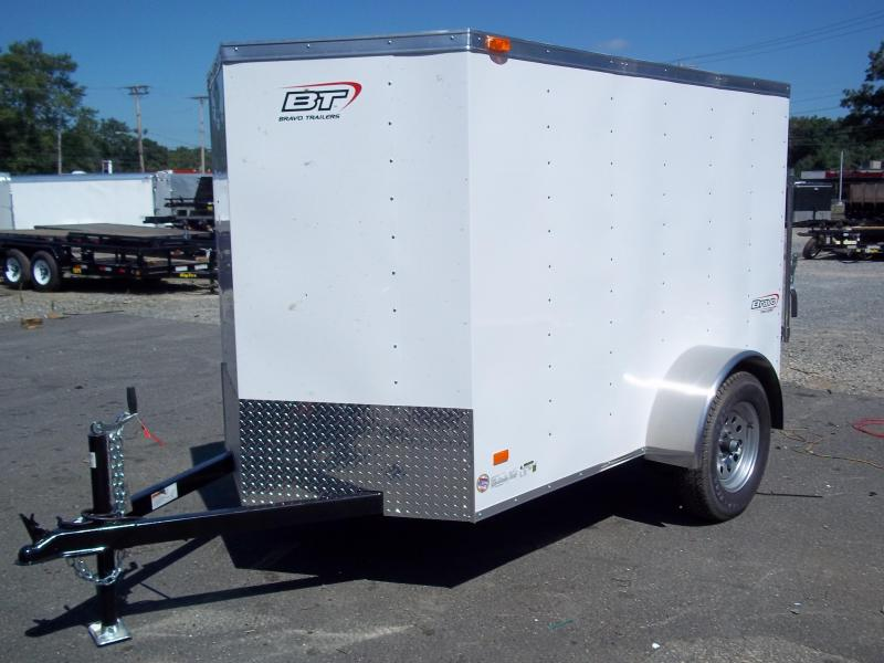 2017 Bravo Trailers 5X10SC SA V LD RAMP APP WHITE Enclosed Cargo Trailer