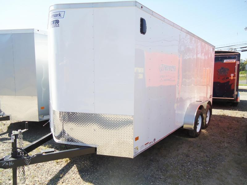 "2018 Haulmark 7X16 PPT DT2 6""X DLX SVNTS WHITE Enclosed Cargo Trailer"