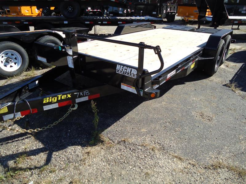 2019 Big Tex Trailers EH 7X16 14ET 16BK MR MEGA BLACK Equipment Trailer