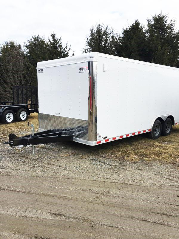 2018 Bravo Trailers 8.5X20 ST TA3 60 TONGUE LANDSCAPE PINTLE WHITE Car / Racing Trailer